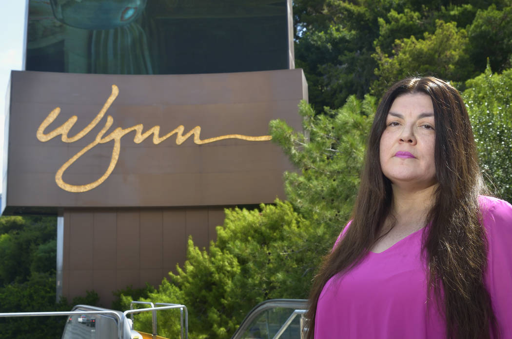 Table games dealer Kanie Kastroll is shown outside of the Wynn Las Vegas hotel- casino at 3131 S. Las Vegas Blvd. in Las Vegas on Thursday, July 26, 2018. Bill Hughes/Las Vegas Review-Journal