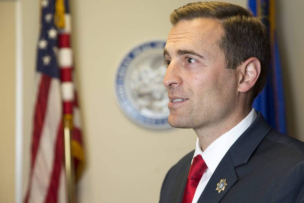 Nevada Attorney General Adam Paul Laxalt during an interview at the Sawyer Building in Las Vegas on Thursday, June 28, 2018. Richard Brian Las Vegas Review-Journal @vegasphotograph