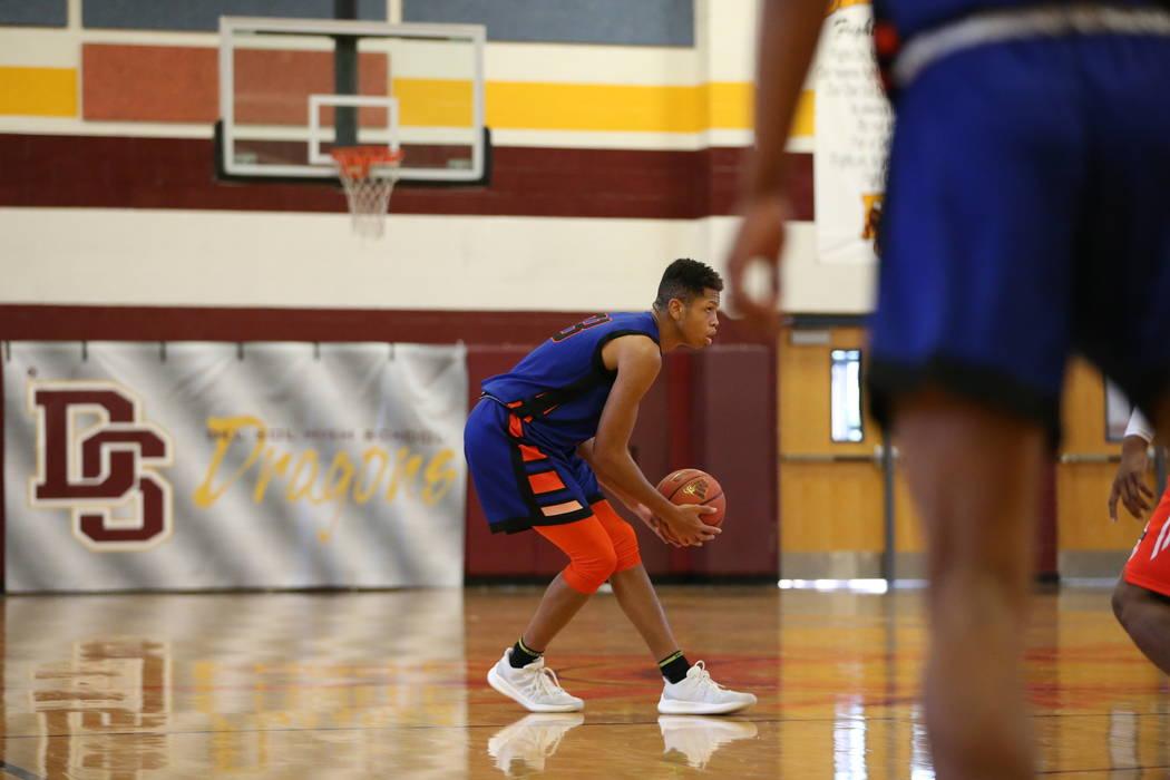 Las Vegas Knicks guard Nick Blake (23) during his basketball game at Del Sol Academy of the Performing Arts in Las Vegas, Thursday, July 26, 2018. Erik Verduzco Las Vegas Review-Journal @Erik_Verduzco
