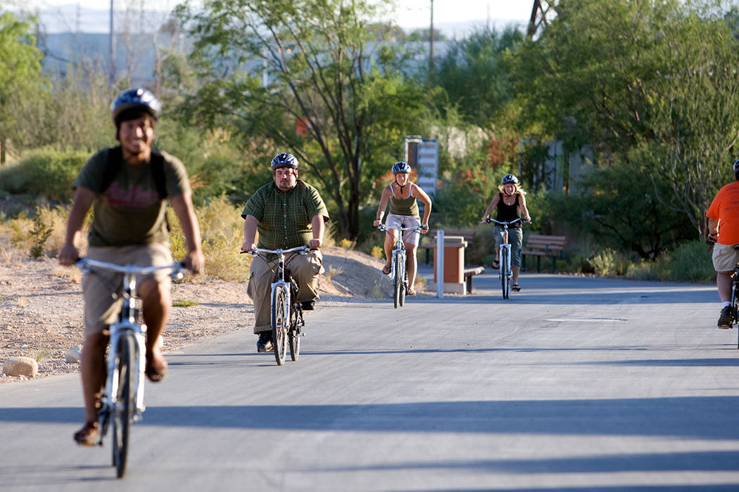 An electric bike is used in Clark County in this file photo. K.M. Cannon/ Las Vegas Review-Journal