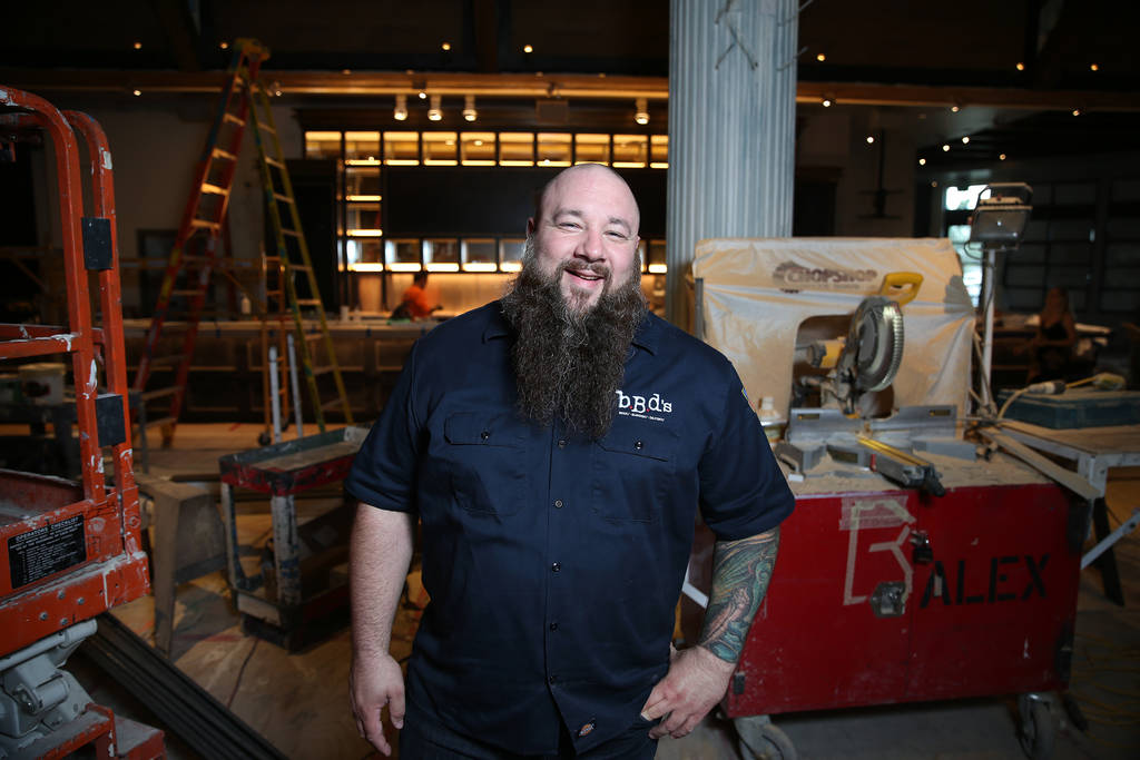 Chef and owner Ralph Perrazzo inside the future BBD's restaurant at Palace Station hotel-casino in Las Vegas, Friday, July 20, 2018. Erik Verduzco Las Vegas Review-Journal @Erik_Verduzco