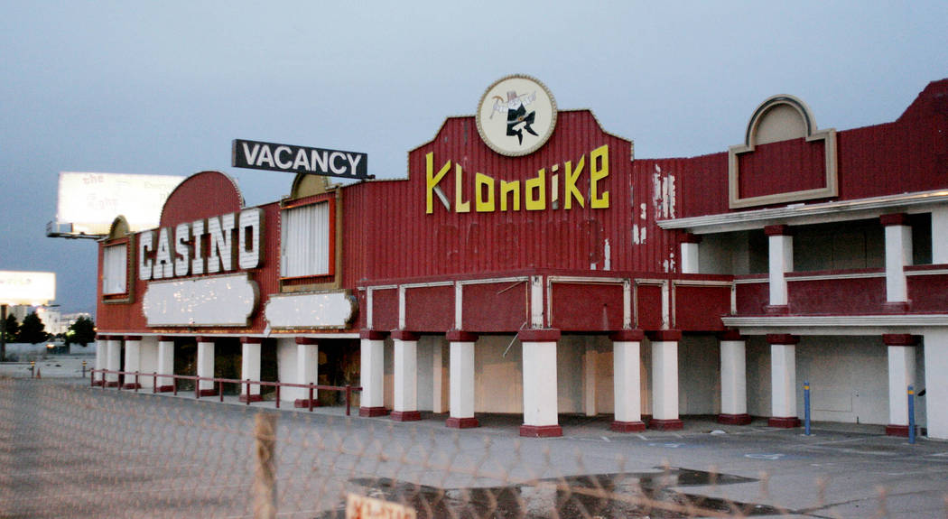 An exterior view of the Klondike Hotel Casino at 5191 Las Vegas Blvd. South Thursday Jan. 3, 2008. The casino was just north of the Welcome to Fabulous Las Vegas sign. (Craig L. Moran/Las Vegas Re ...