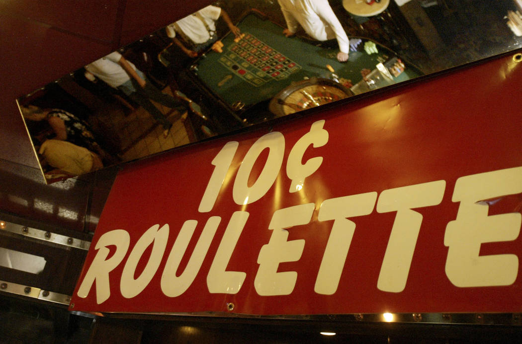 Locally known for its 10 cent roulette, the Klondike Inn hotel-casino closed its doors Friday, June 23, 2006. (Samantha Clemens/Las Vegas Review-Journal)