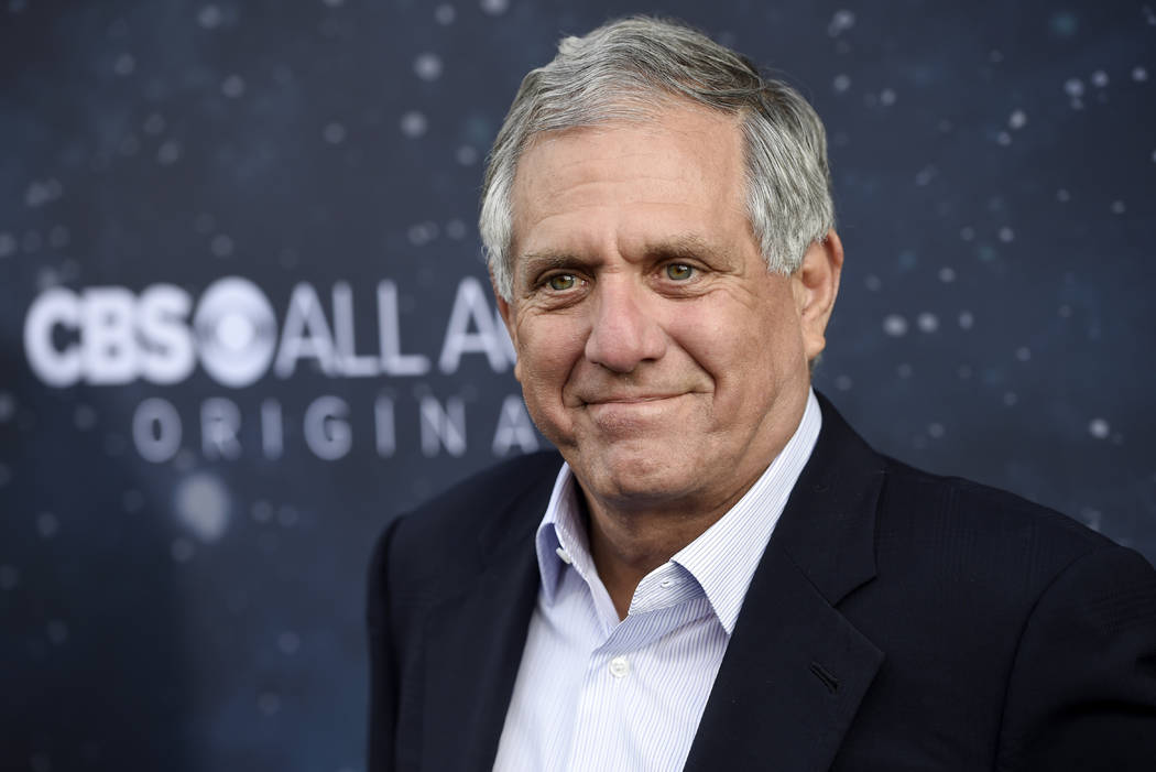 """Les Moonves, chairman and CEO of CBS Corporation, poses at the premiere of the new television series """"Star Trek: Discovery"""" in Los Angeles in 2017. (Photo by Chris Pizzello/Invision/AP)"""