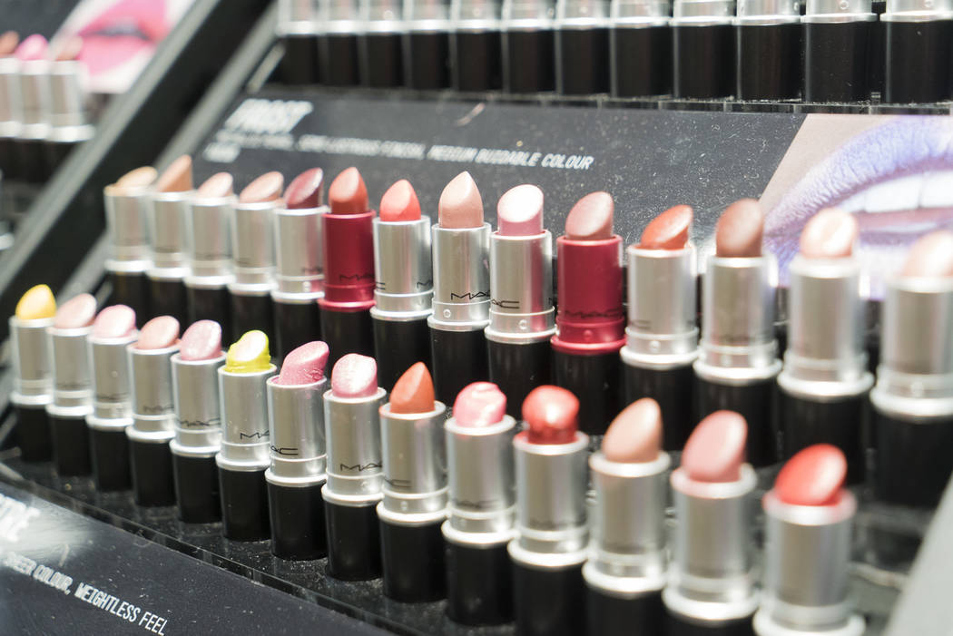 A lipstick display at MAC Cosmetics in the Miracle Mile Shops during National Lipstick Day in Las Vegas, Sunday, July 29, 2018. (Marcus Villagran/Las Vegas Review-Journal) @brokejournalist