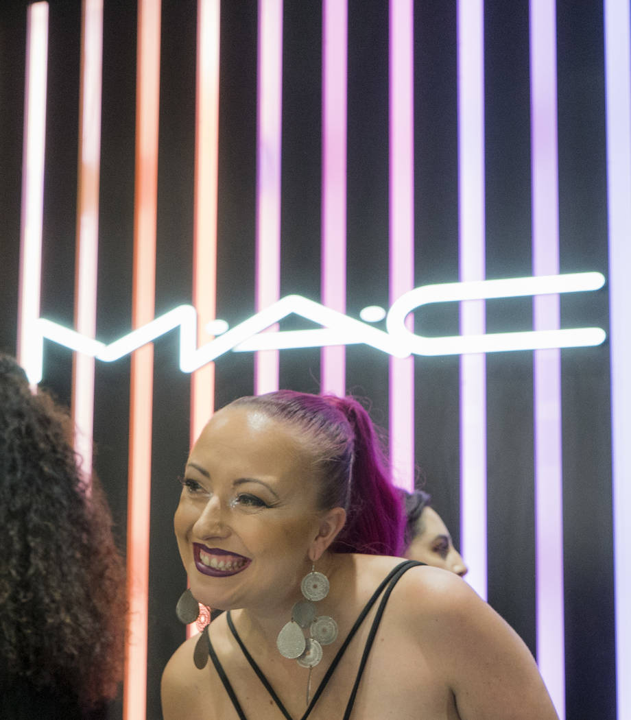 MAC assistant operations manager Liz Marhold greets a customer at MAC Cosmetics on National Lipstick Day at the Miracle Mile Shops in Las Vegas, Sunday, July 29, 2018. (Marcus Villagran/Las Vegas ...