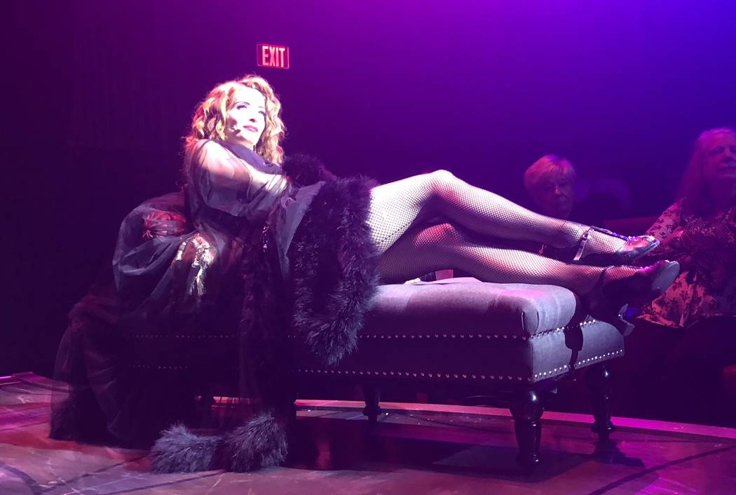 """Anne Martinez is shown in """"Baz"""" at Palazzo Theater. The show closed on Saturday, July 28, 2018. (John Katsilometes/Las Vegas Review-Journal) @JohnnyKats"""