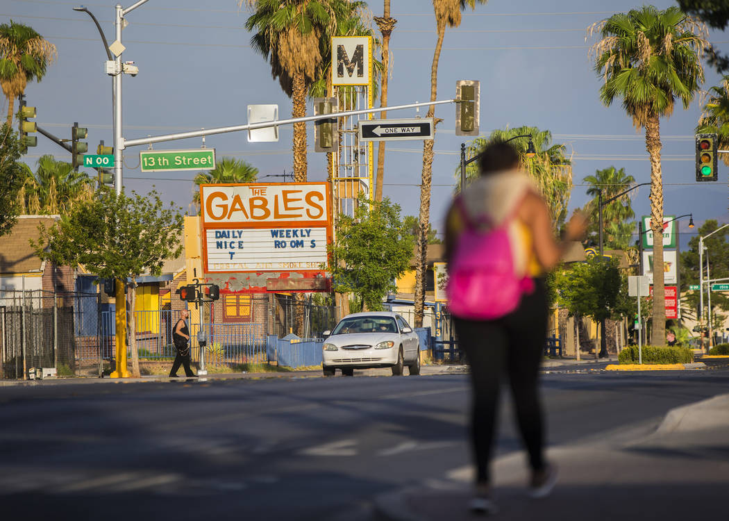 The Gables Motel at 1301 Fremont Street on Monday, July 30, 2018, in Las Vegas. Benjamin Hager Las Vegas Review-Journal @benjaminhphoto
