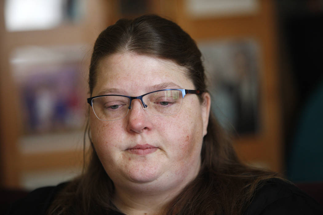 Carrie Olsen talks about the health issues of her son, Daemion Olson, 9, to the Review-Journal at her home in Las Vegas, Tuesday, July 31, 2018. Medicaid announced a new rule in June that forced D ...