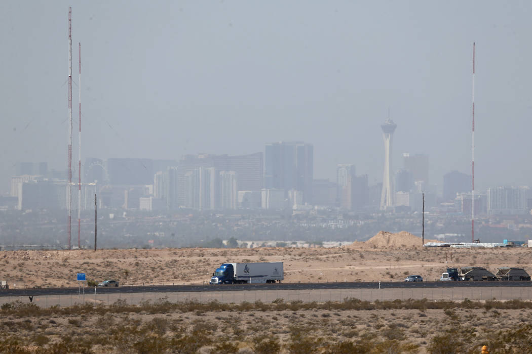 Wildfire Smoke Drifts Over Las Vegas Sparking Air Quality Advisory