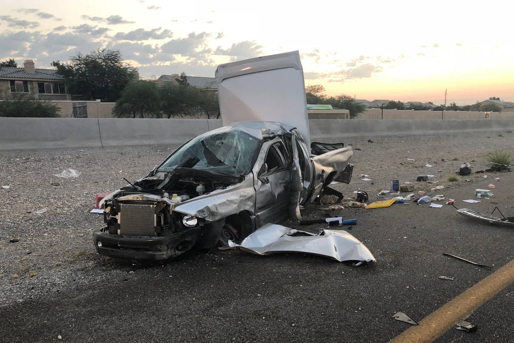 Arthur Gomez of Lake Havasu City, Arizona, died in a rollover crash on Summerlin Parkway and U.S. Highway 95 early Saturday, July 28, 2018. (Nevada Highway Patrol Southern Command)