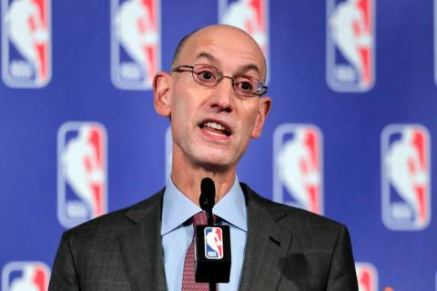 In this Sept. 28, 2017 file photo, NBA Commissioner Adam Silver speaks during a news conference in New York. (AP Photo/Julie Jacobson, File)