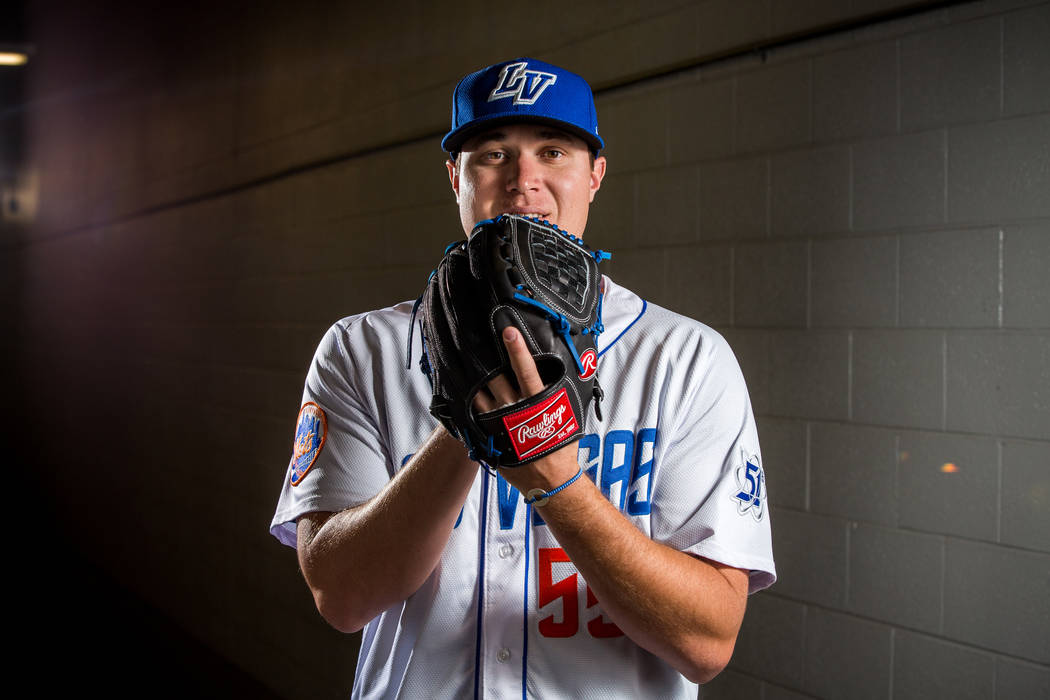 51s pitcher Corey Oswalt during the 51s media day at Cashman Field in Las Vegas on Tuesday, April 3, 2018. Patrick Connolly Las Vegas Review-Journal @PConnPie