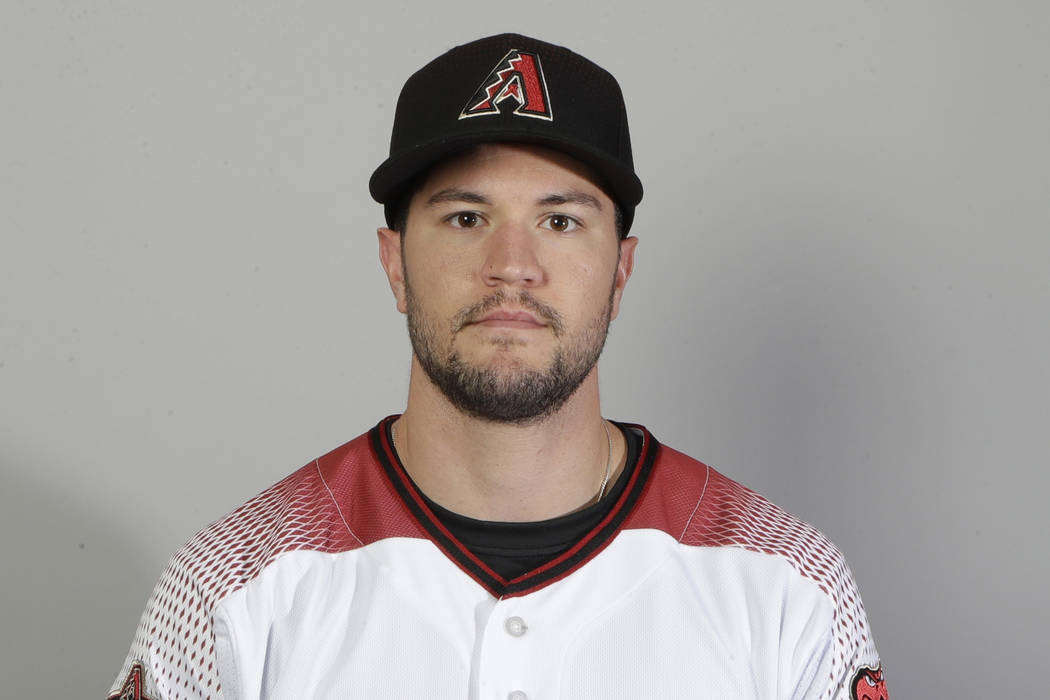 This is a 2018 photo of shortstop Jack Reinheimer of the Arizona Diamondbacks baseball team. This image reflects the spring training active roster as of Feb. 20, 2018 when this image was taken in ...