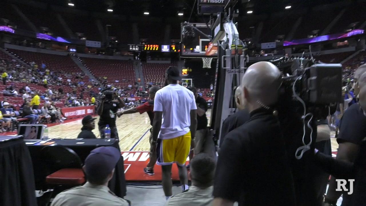 c5d68ebb3c61b Lakers  LeBron James arrives at Thomas   Mack for Summer League ...