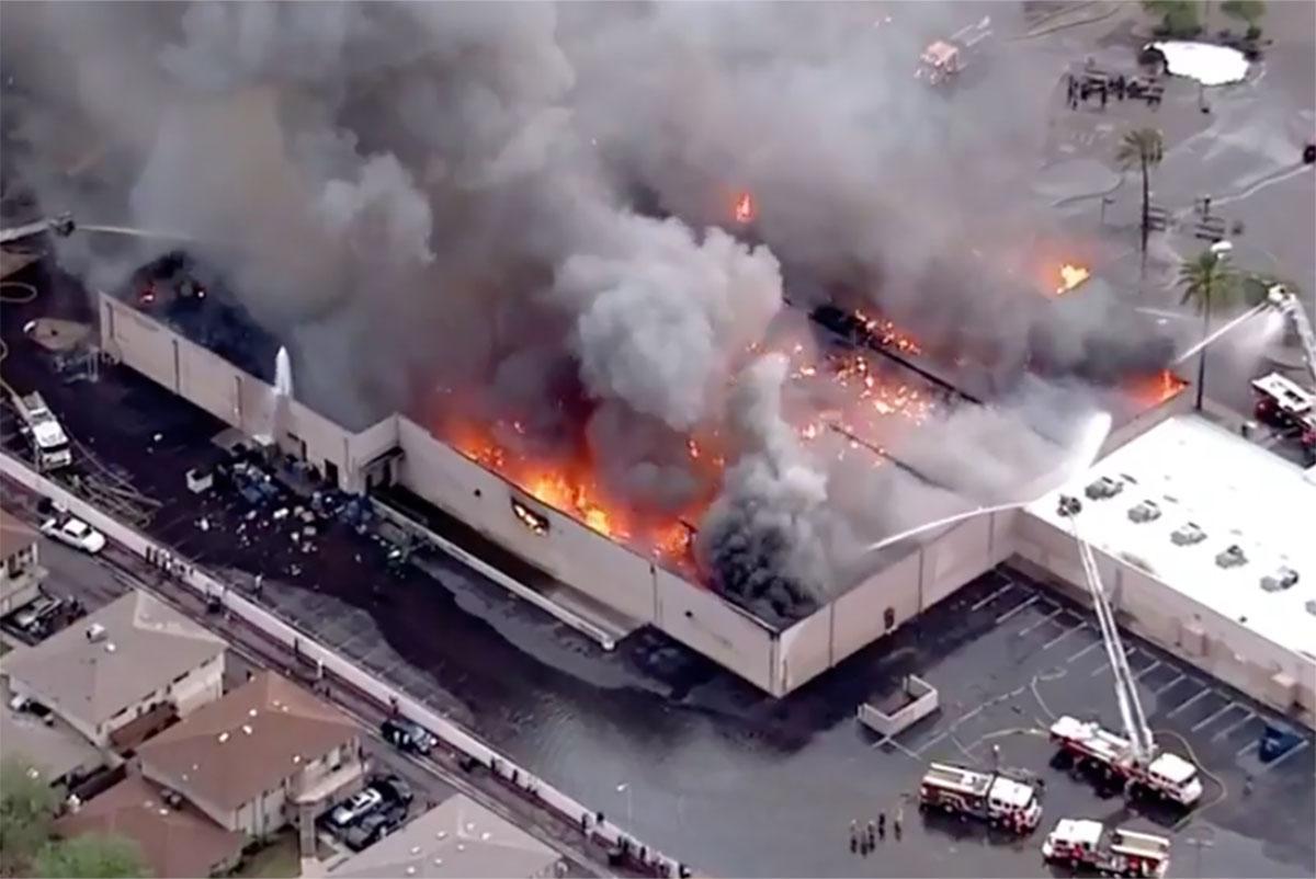 Fire Destroys Phoenix Supermarket After Roof Collapses