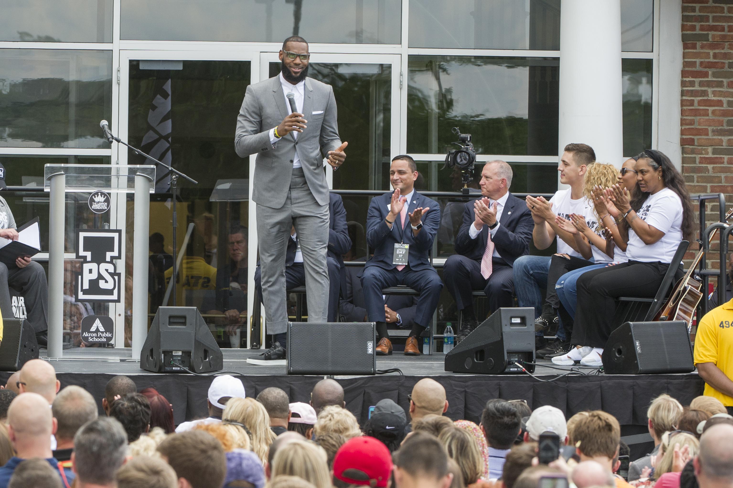 0e654d23ac3d LA-bound LeBron James opens Ohio school as part of legacy
