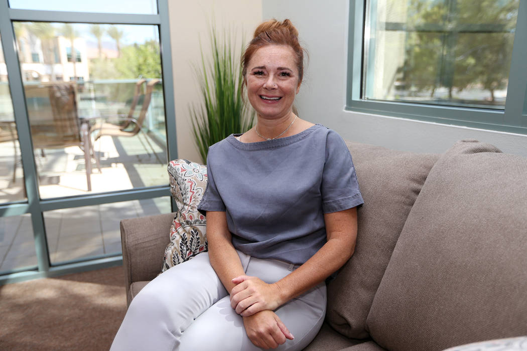 Erin Snell, director of business development for the Center for Hope, an eating disorder treatment facility, during an open house event of the center's new facility in Henderson, Thursday, June 28 ...