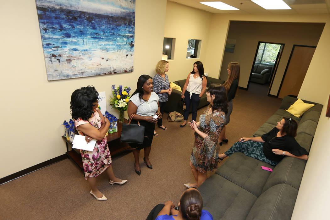 People visit the Center for Hope open house, an eating disorder treatment facility, in Henderson, Thursday, June 28, 2018. Erik Verduzco Las Vegas Review-Journal @Erik_Verduzco