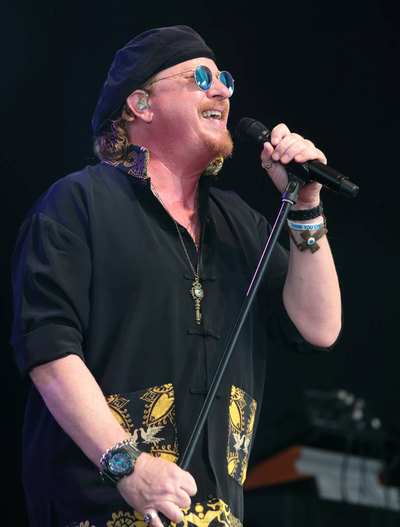 Joseph Williams of the band Toto performs in concert at Pier Six Pavilion on Wednesday, Aug. 12, 2015, in Baltimore. (Photo by Owen Sweeney/Invision/AP)