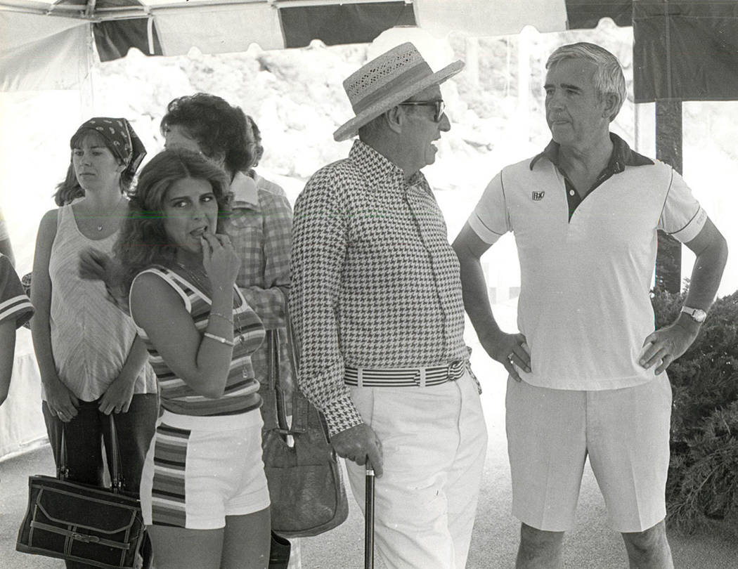 Left to Right Carol Laxalt, Oliver Vandrbilt and Senator Paul Laxalt. (File photo/Las Vegas Review-Journal )