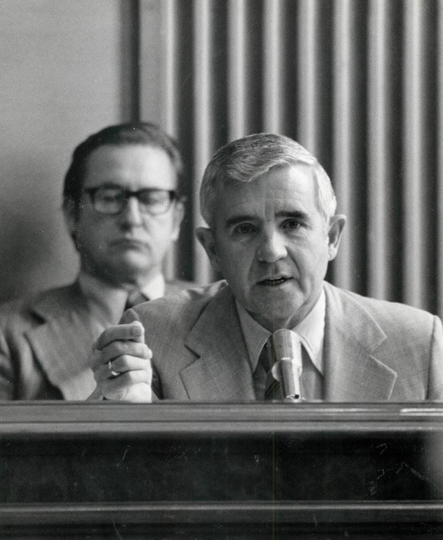 Paul Laxalt 1980 (File photo /Las Vegas Review-Journal )