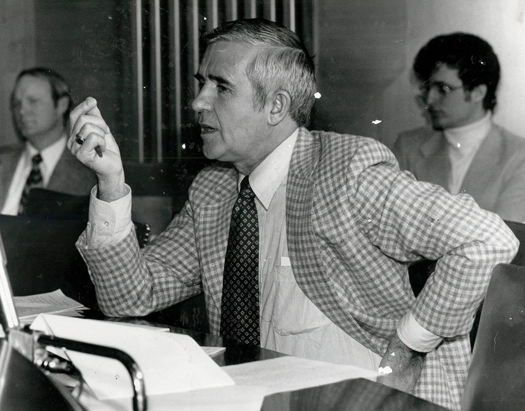 Paul Laxalt November 2, 1982 (File photo /Las Vegas Review-Journal )