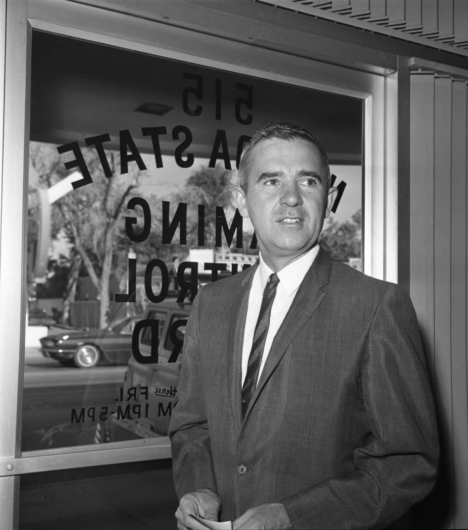 Governor Paul Laxalt before a Nevada State Gaming Control Board meeting in 1967. (Las Vegas Review-Journal file photo)