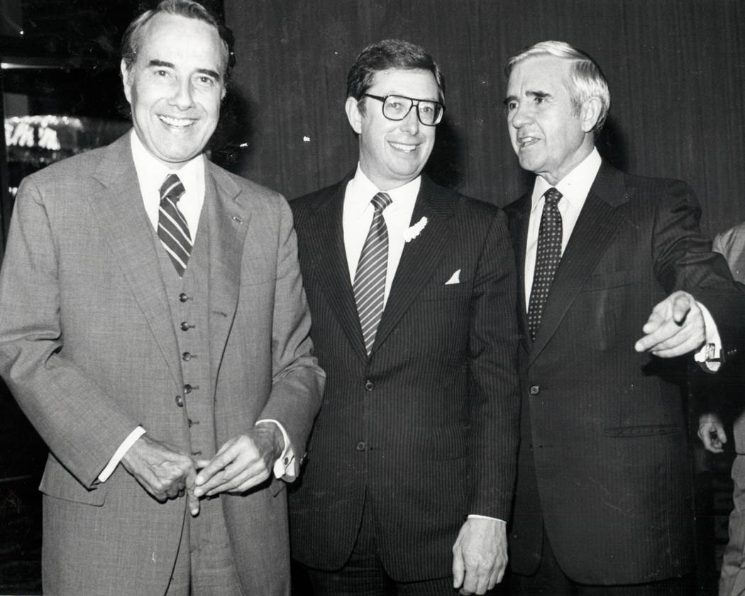Bob Dole, Robert List and Paul Laxalt in 1982. (Las Vegas Review-Journal file photo)
