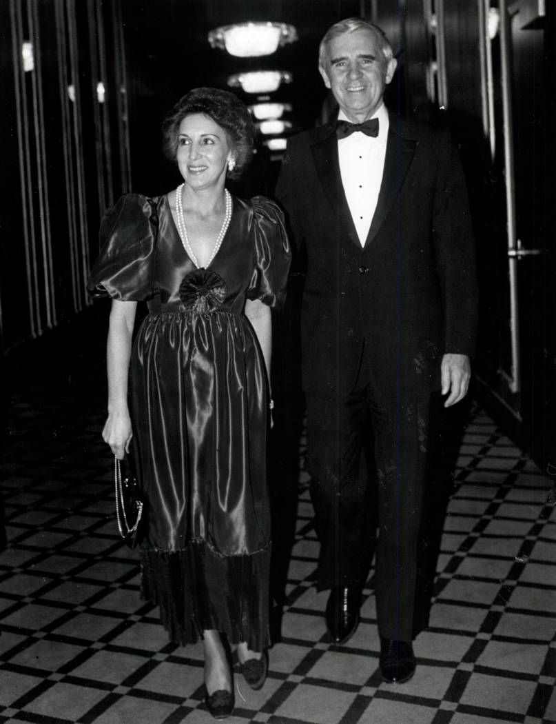 Carol and Paul Laxalt in 1982. (Las Vegas Review-Journal file photo)