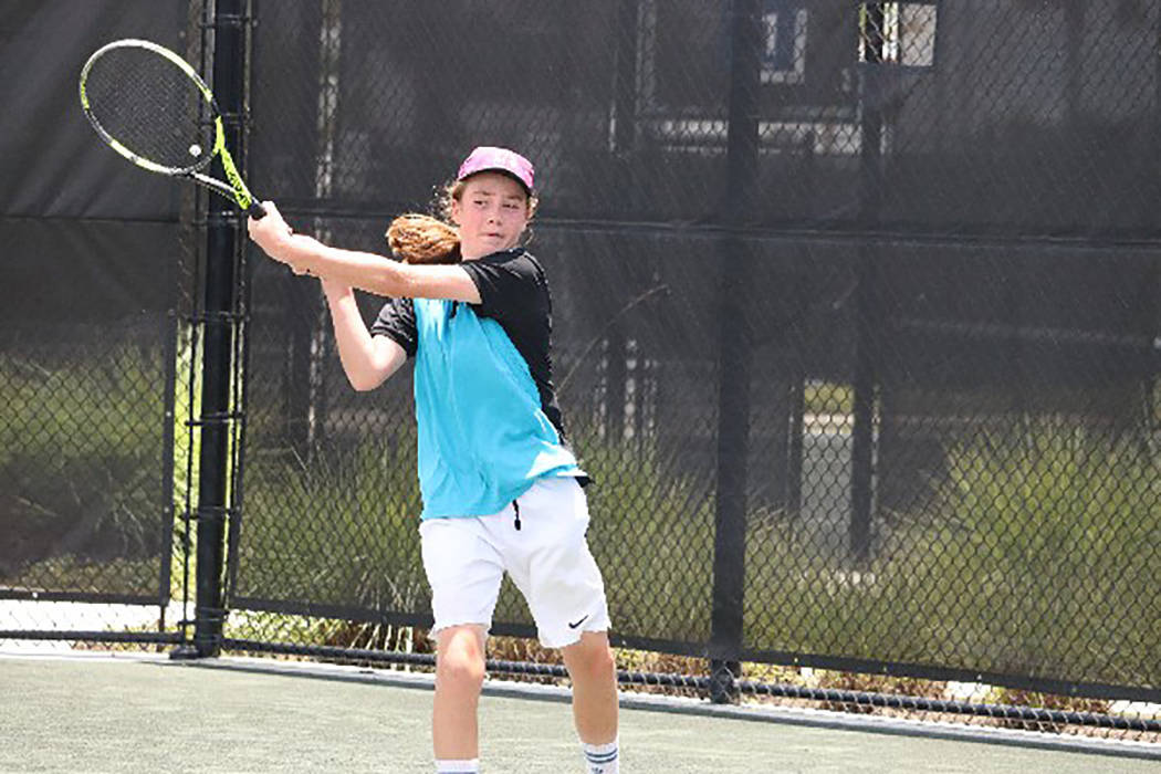 Rocco Mendez competes in the United States Tennis Association national camp in June in Orlando, Florda. Photo courtesy of Marty Hennessy's Inspiring Children Foundation.