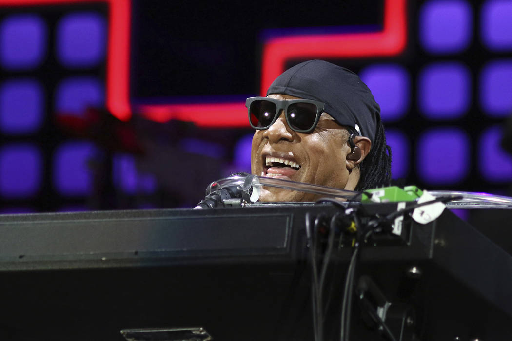 Stevie Wonder performs at the Global Citizen Festival in Central Park on Saturday, Sept. 23, 2017, in New York. (Photo by Greg Allen/Invision/AP)