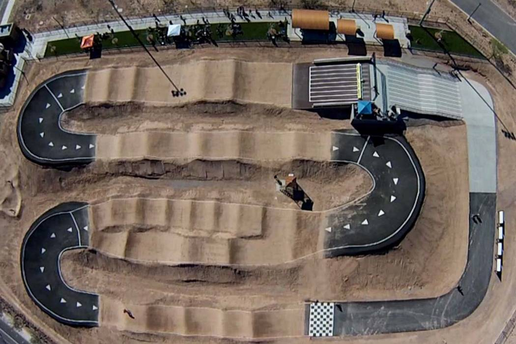An aerial view of Whitney Mesa BMX Facility. (City of Henderson)