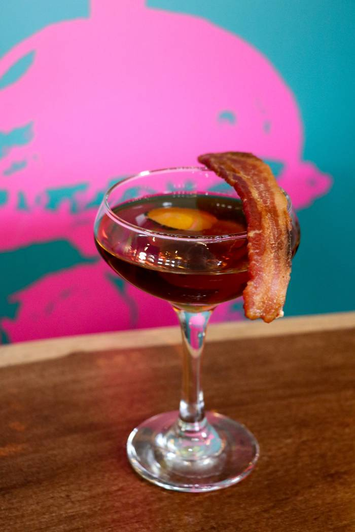 The menu at the new Slater's 50/50 is heavy on bacon, and that includes its cocktail selection. The salty, porky twist on the Bacon Old Fashioned is pretty easy to replicate at home. Bacon Old ...