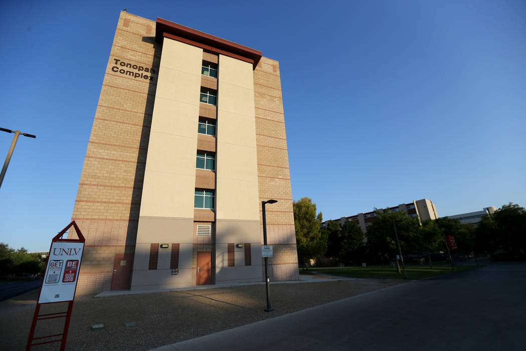 The Tonopah Complex residence hall at UNLV Friday, July 27, 2018. K.M. Cannon Las Vegas Review-Journal @KMCannonPhoto