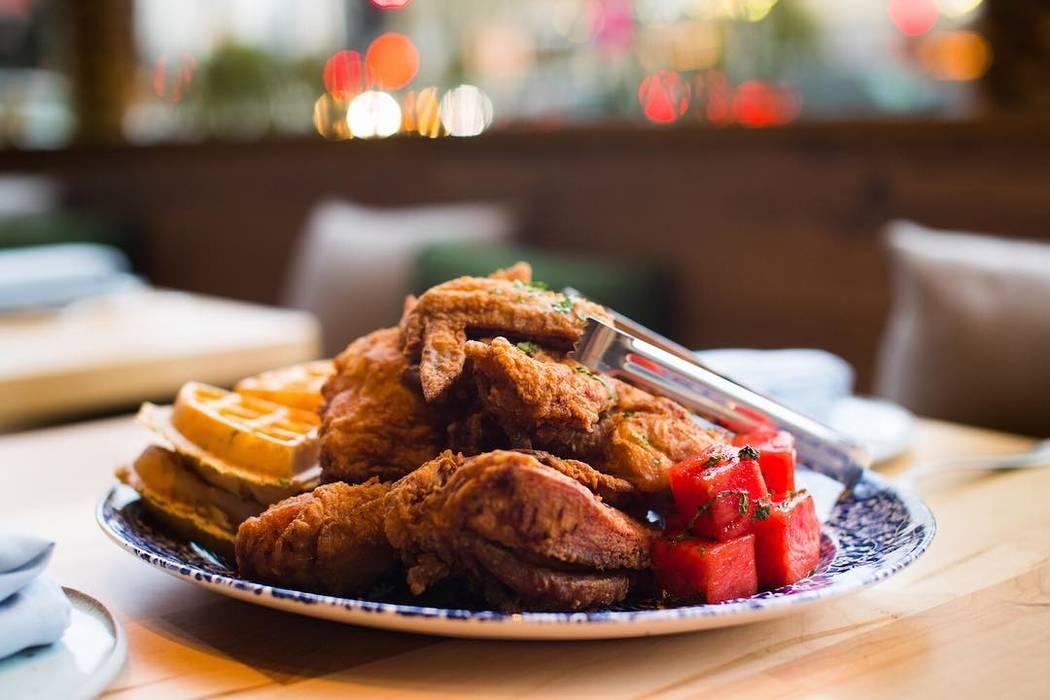 Yardbird's Chicken 'n Watermelon 'n Waffles. Yardbird Southern Table & Bar/Facebook