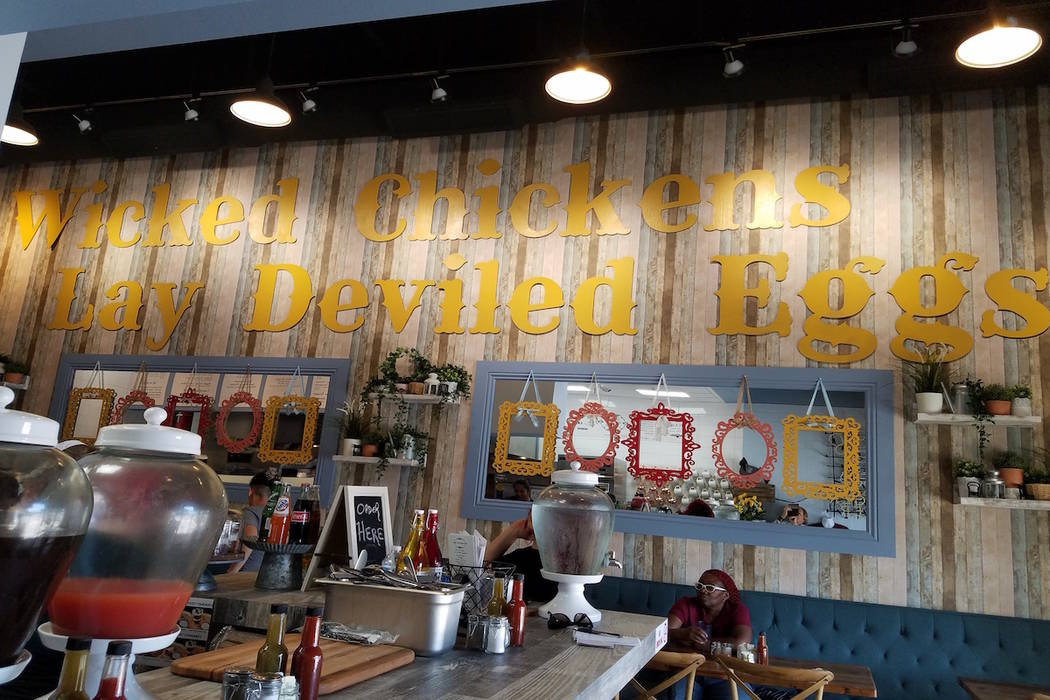 The interior of Mama Bird Southern Kitchen in Southern Highlands. (Heidi Knapp Rinella/Las Vegas Review-Journal)
