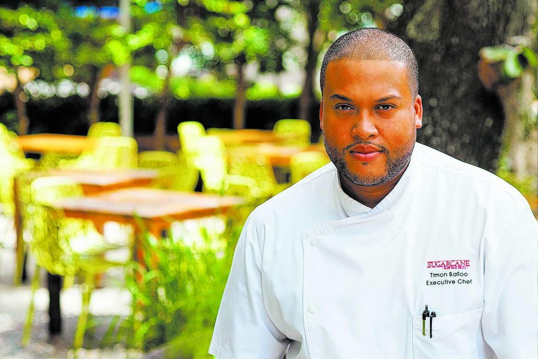 Chef Timon Balloo of Sugarcane Raw Bar Grill at The Venetian in Las Vegas.