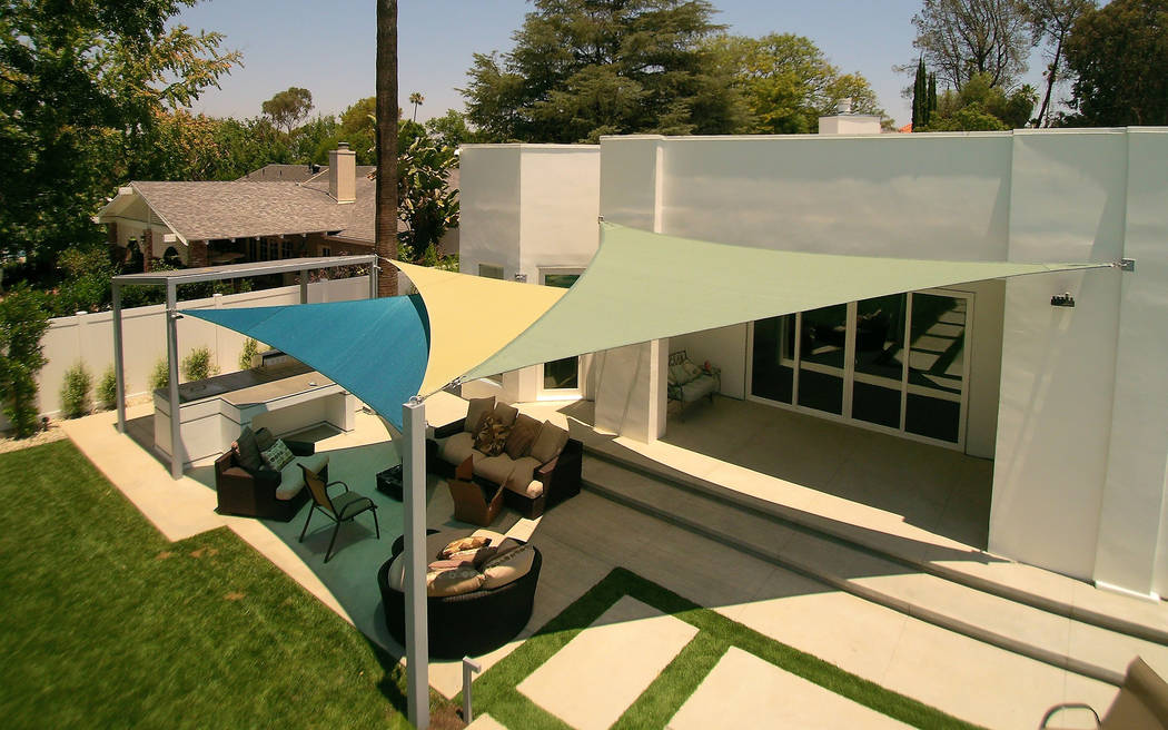 Shade Sails Provide Sun Protection Las Vegas Review Journal