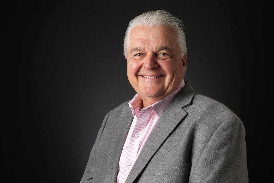 Clark County Commission Chair Steve Sisolak said he was concerned that a new county official previously took a job with a software company that had won a no-bid contract. Michael Quine/Las Vegas R ...