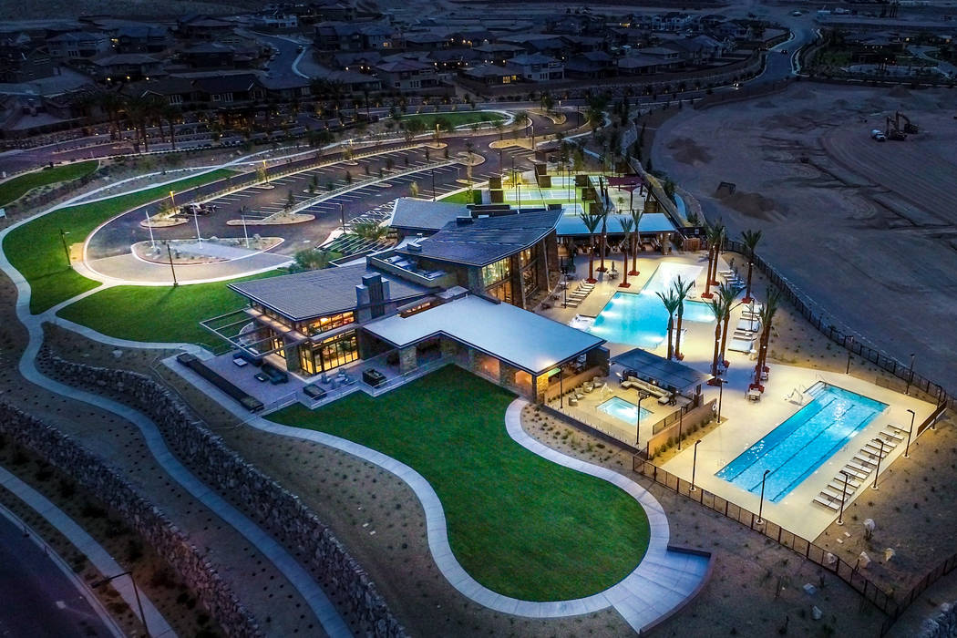 The Clubhouse at Reverence includes a fitness center, resort and lap pools and outdoor entertaining areas. (Summerlin)
