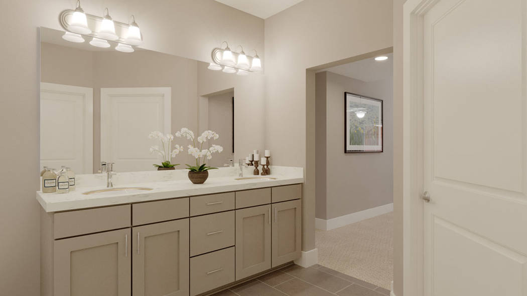 A bath in Edward Homes' Coronado condominiums in Summerlin. (Edward Homes)