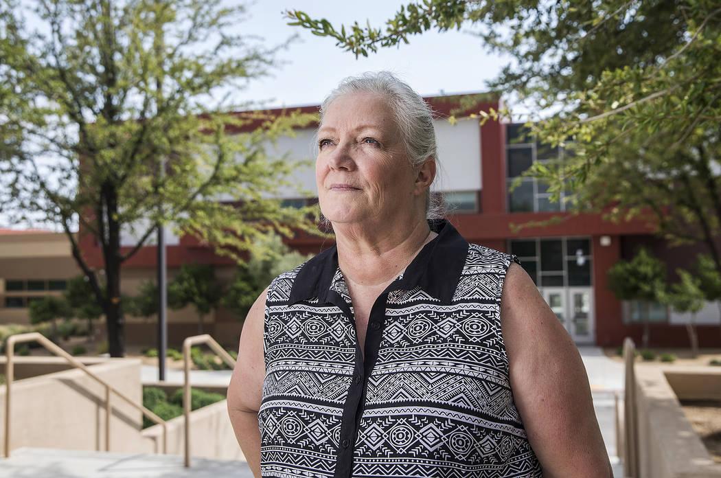 Registrar Serena Koerner outside West Career and Technical Academy on Tuesday, July 31, 2018, in Las Vegas. Benjamin Hager Las Vegas Review-Journal @benjaminhphoto