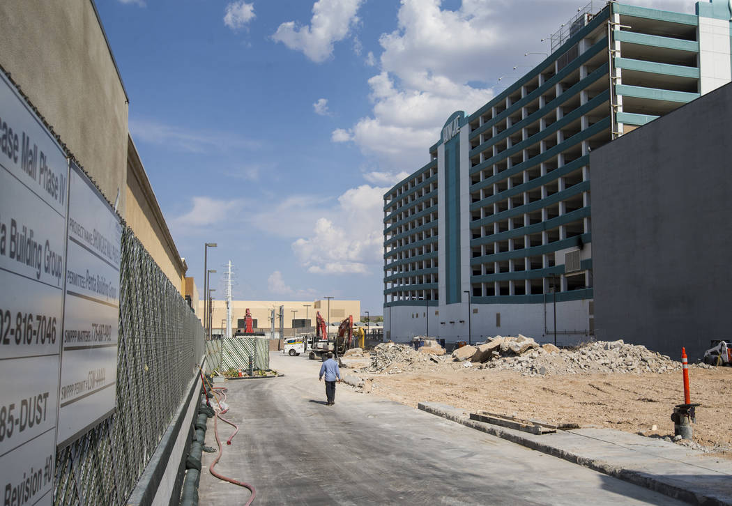 The location where a Target is slated to open in 2020, adjacent to the Showcase Mall and the MGM Grand, on Las Vegas Boulevard on Wednesday, Aug. 1, 2018. The location was formerly the home of Smi ...