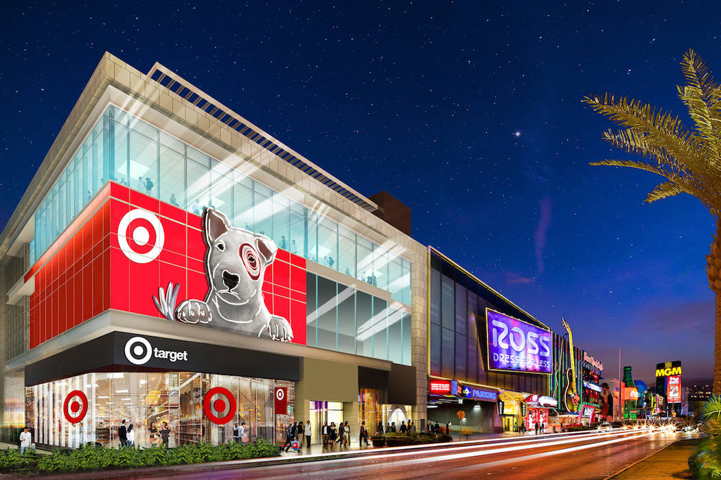 A rendering of a Target store set to open on the Las Vegas Strip in 2020. (Target)