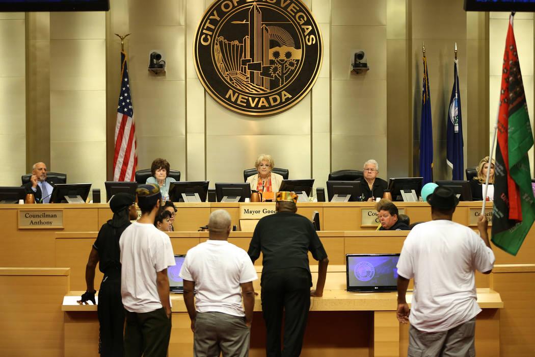 Concerned citizens speak during public comment in a council meeting at Las Vegas City Hall in Las Vegas, Wednesday, Aug. 1, 2018. Erik Verduzco Las Vegas Review-Journal @Erik_Verduzco