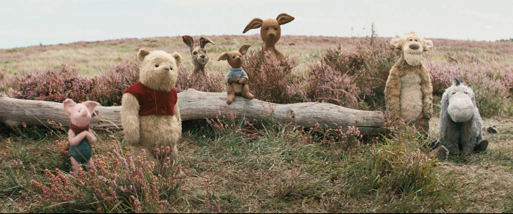 "Piglet, Pooh, Rabbit, Roo, Kanga, Tigger and Eeyore in Disney's live-action adventure ""Christopher Robin."" Disney"