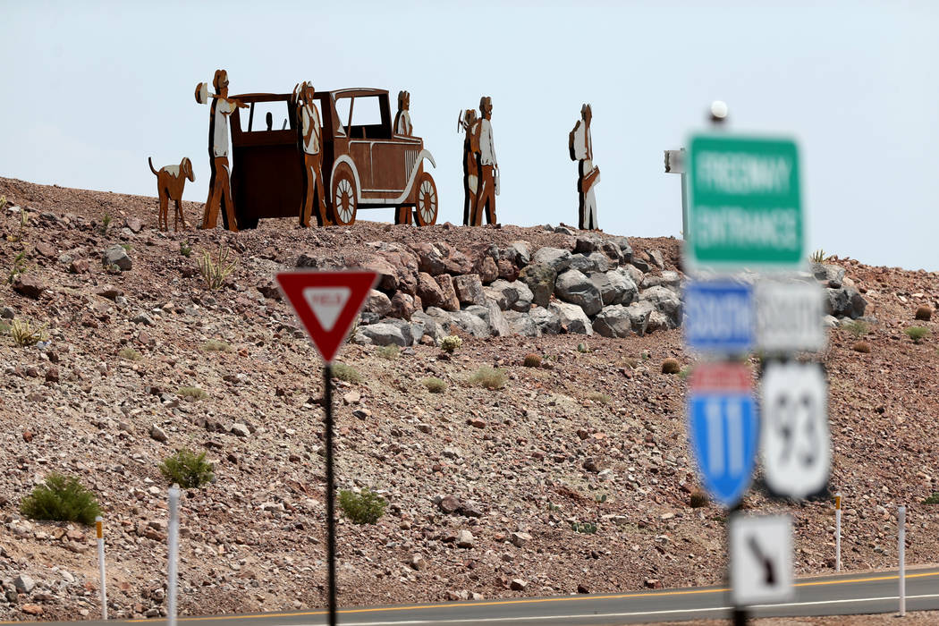 Art on Interstate 11 near U.S. Highway 95 in Boulder City Wednesday, Aug. 1, 2018. K.M. Cannon Las Vegas Review-Journal @KMCannonPhoto