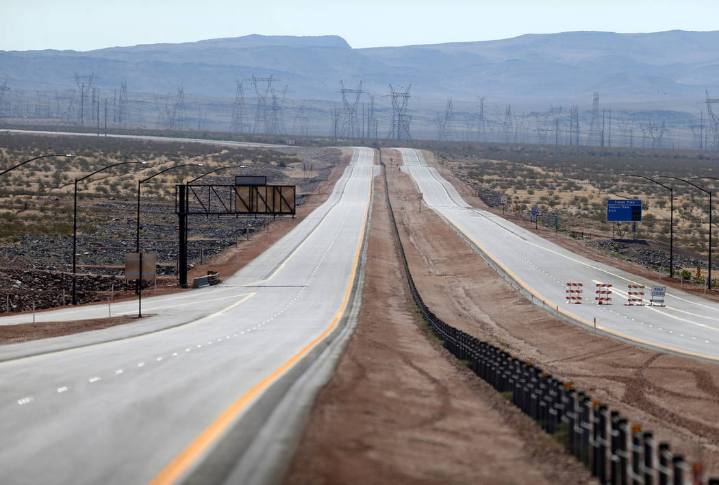 Interstate 11 near U.S. Highway 95 in Boulder City Friday, Aug. 3, 2018. K.M. Cannon Las Vegas Review-Journal @KMCannonPhoto
