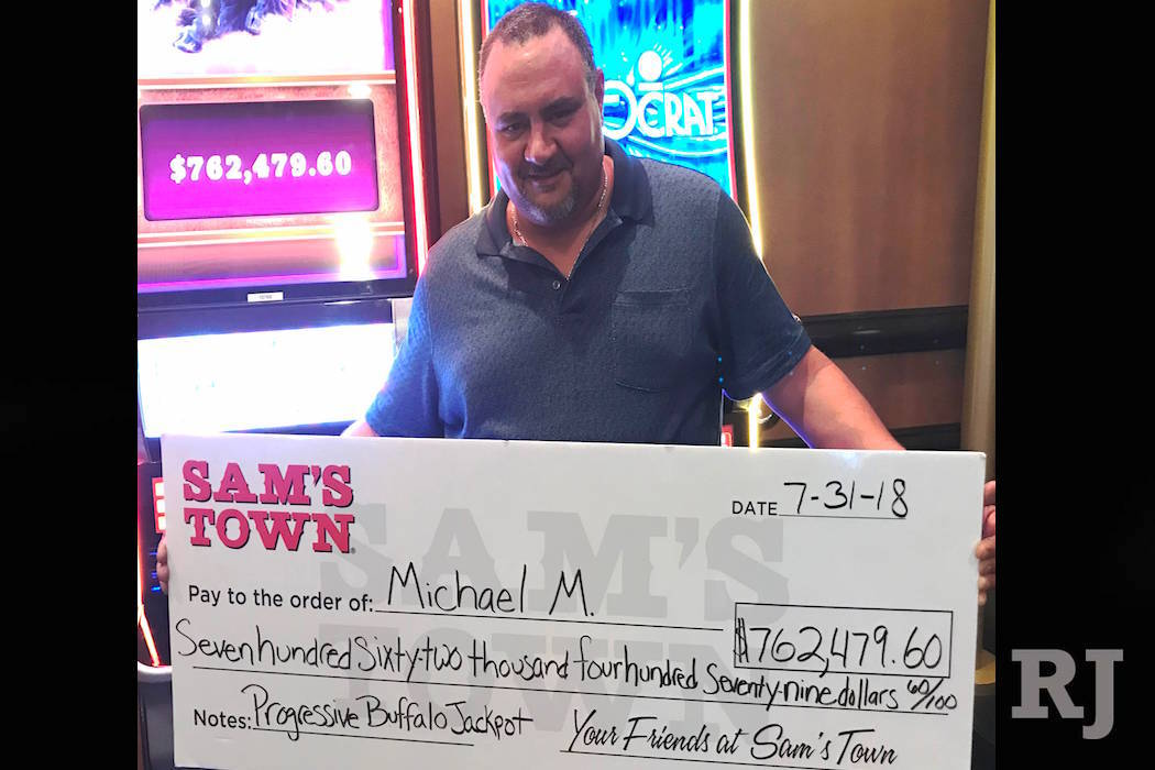 A winner of a $762,479.60 jackpot is seen at Sam's Town. (Sam's Town Hotel and Gambling Hall)